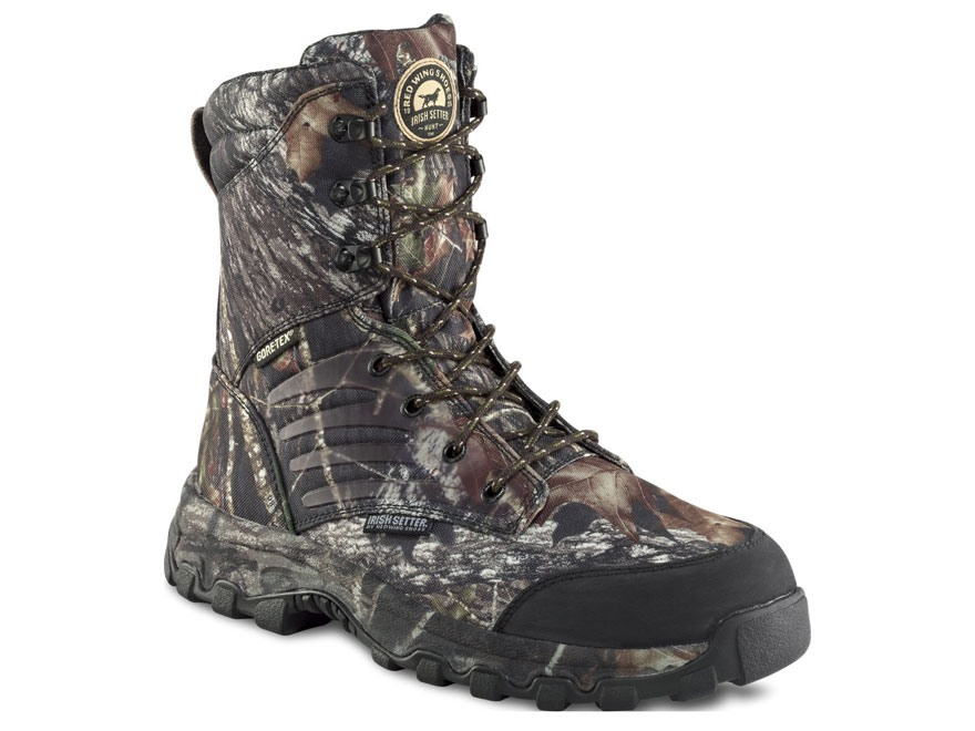 "Irish Setter Shadow Trek 9"" Waterproof 800 Gram Insulated Hunting Boots Nylon Mossy Oak Break-Up Camo Men's"