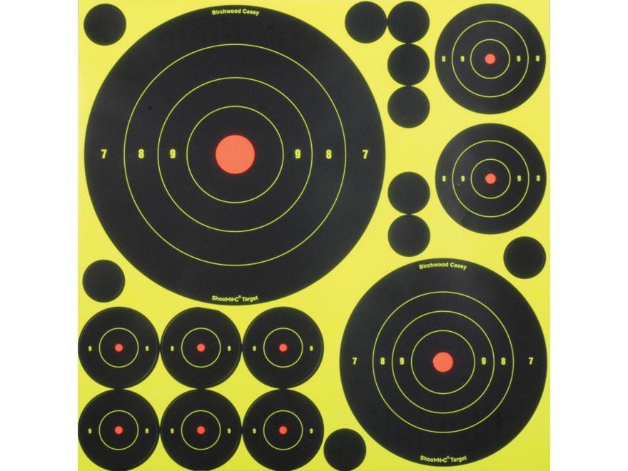 Birchwood Casey Shoot-N-C Self Adhesive Targetss Variety Pack Pack of 50