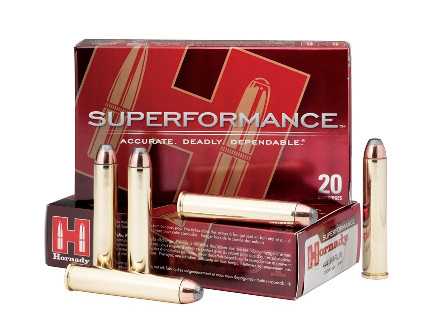 Hornady Superformance Ammunition 444 Marlin 265 Grain Flat Nose Box of 20