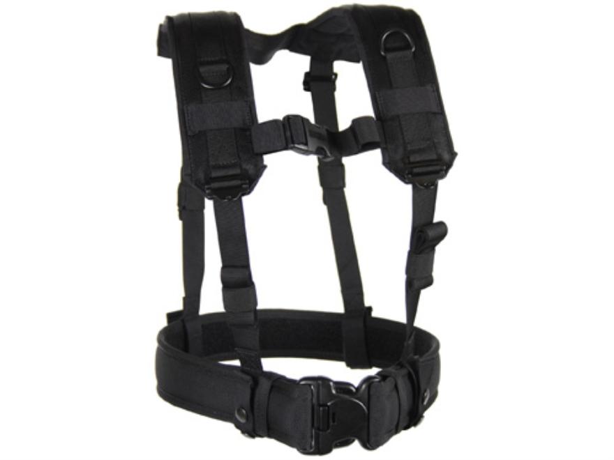 BLACKHAWK! Load Bearing H-Suspenders/Harness Nylon Black