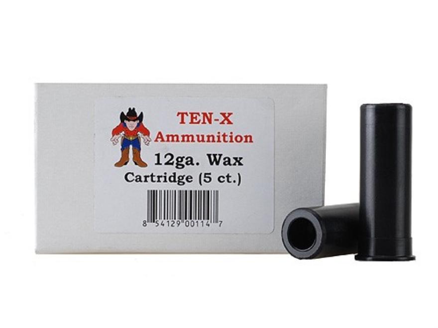 """Ten-X Cowboy Ammunition Wax Carrier 12 Gauge 2-3/4"""" Box of 5"""