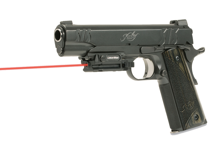 LaserMax Uni-Max ES External Red Laser with Integral Picatinny-Style Mount Plus Accessory Picatinny Rail Matte