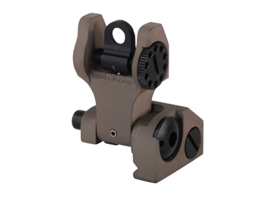 Troy Industries Rear Flip-Up Battle Sight AR-15 Flat-Top Aluminum