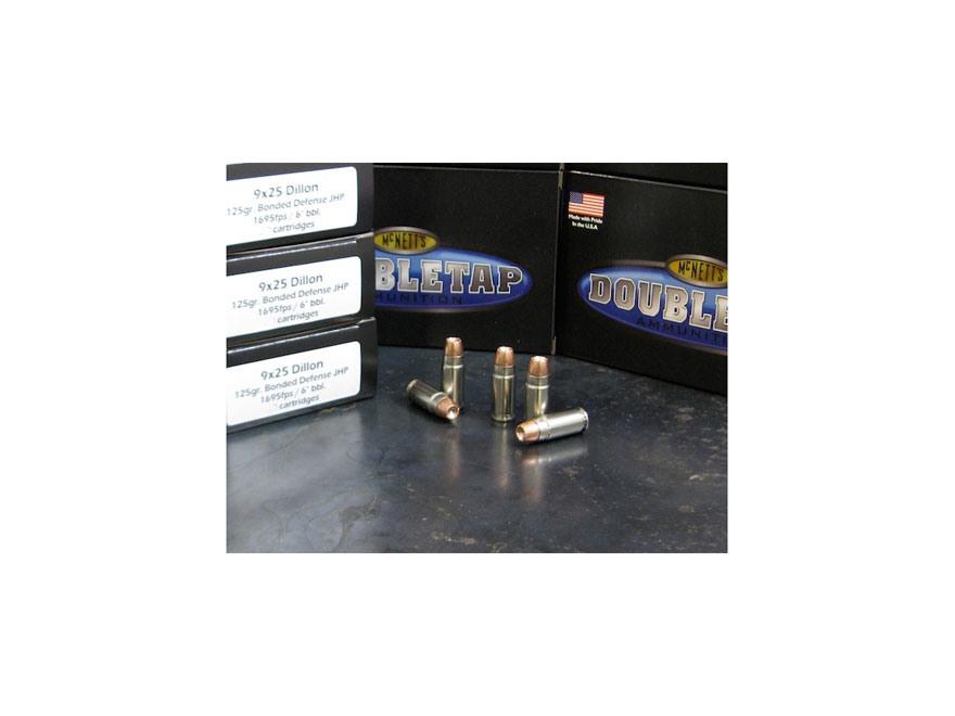 Doubletap Ammunition 9x25mm Dillon 125 Grain Bonded Defense Jacketed Hollow Point Box o...