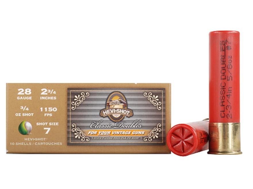 "Hevi-Shot Classic Doubles Ammunition 28 Gauge 2-3/4"" 5/8 oz #7 Non-Toxic Hevi-Shot Box ..."