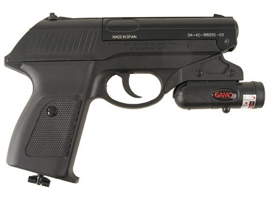 Gamo P-23 Semi-Automatic CO2 Air Pistol 177 Cal Blue Laser Sight