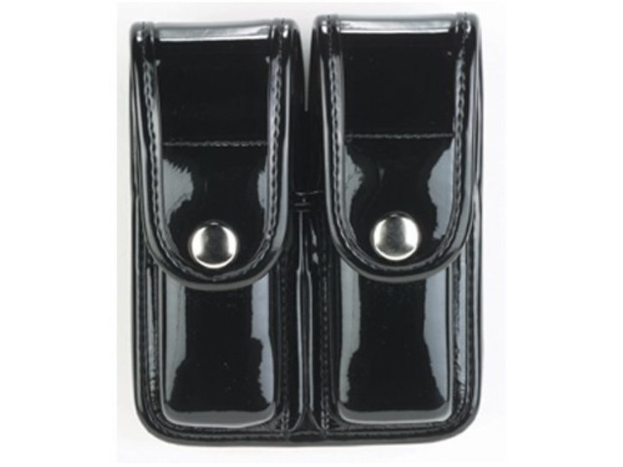 Bianchi 7902 AccuMold Elite Double Magazine Pouch Double Stack 9mm, 40 S&W Chrome Snap ...