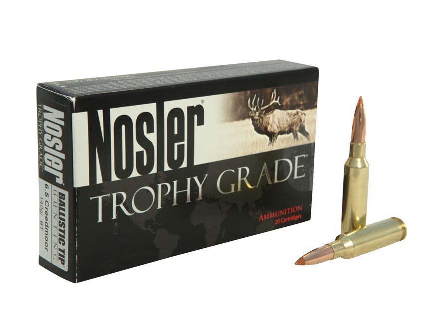 Nosler Trophy Grade Ammunition 6.5 Creedmoor 140 Grain Ballistic Tip Box of 20