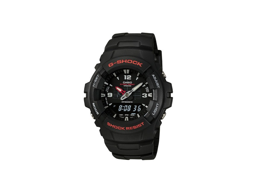 Casio G-Shock Multi-Function Digital and Analog Watch Resin Band Black
