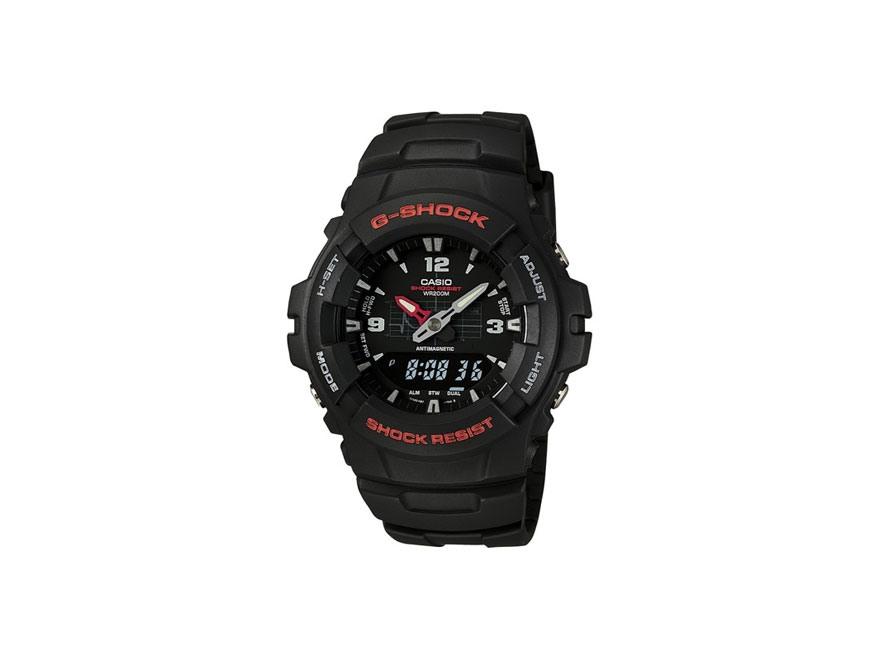 Casio G-Shock Multi-Function Digital and Analog Watch Resin Band Black