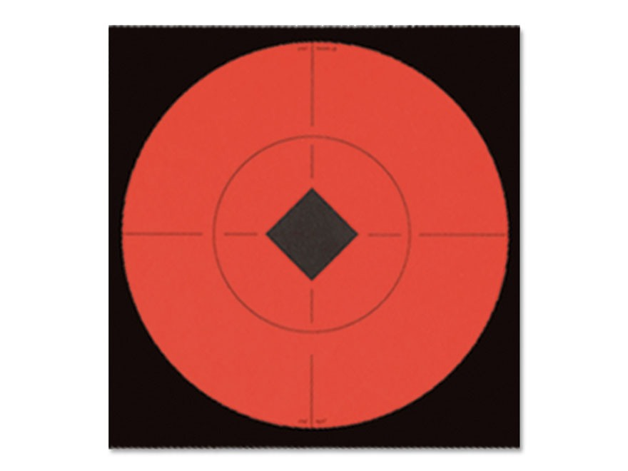 "Birchwood Casey Target Spots 6"" Fluorescent Red Package of 10"