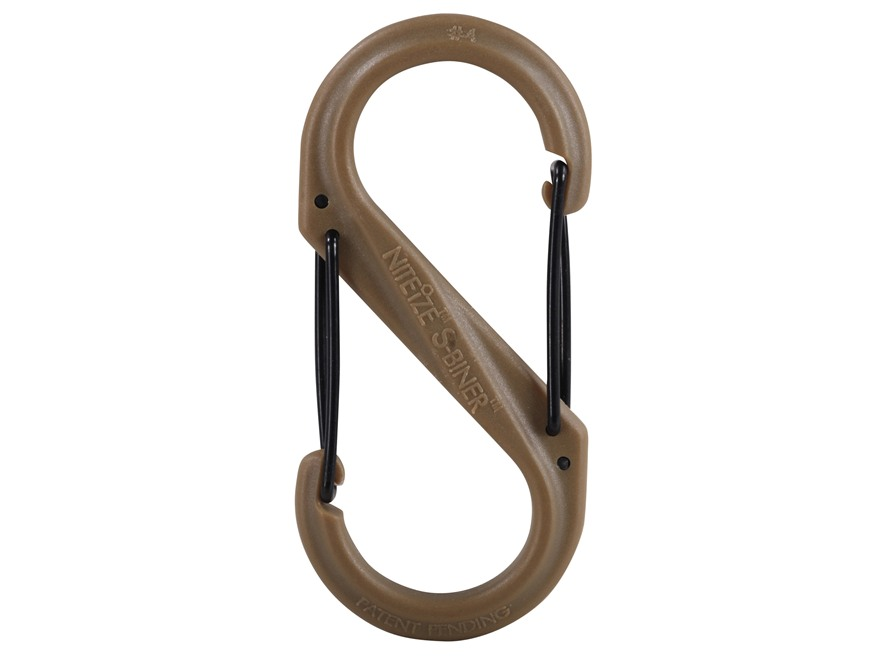 Nite Ize S-Biner Double-Gated Carabiner Size #4 Polymer Coyote