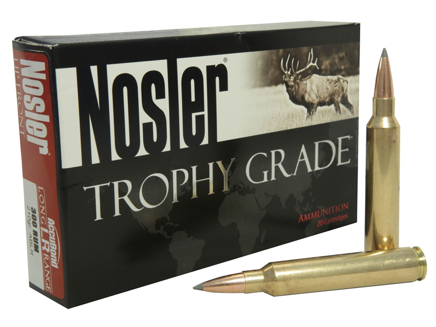 Nosler Trophy Grade Ammunition 300 Remington Ultra Magnum 210 Grain AccuBond Long Range Box of 20