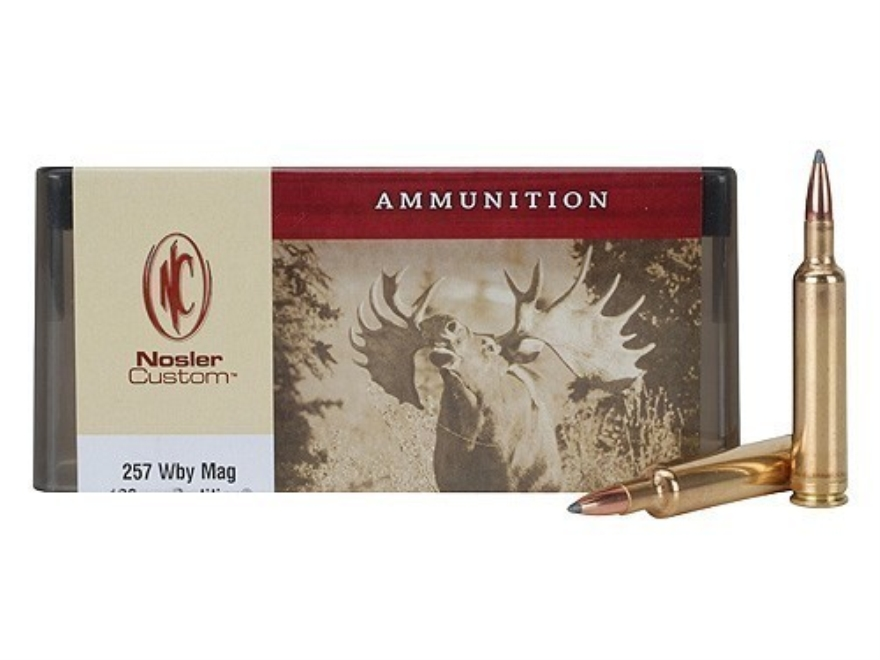 Nosler Custom Ammunition 257 Weatherby Magnum 120 Grain Partition Spitzer Box of 20