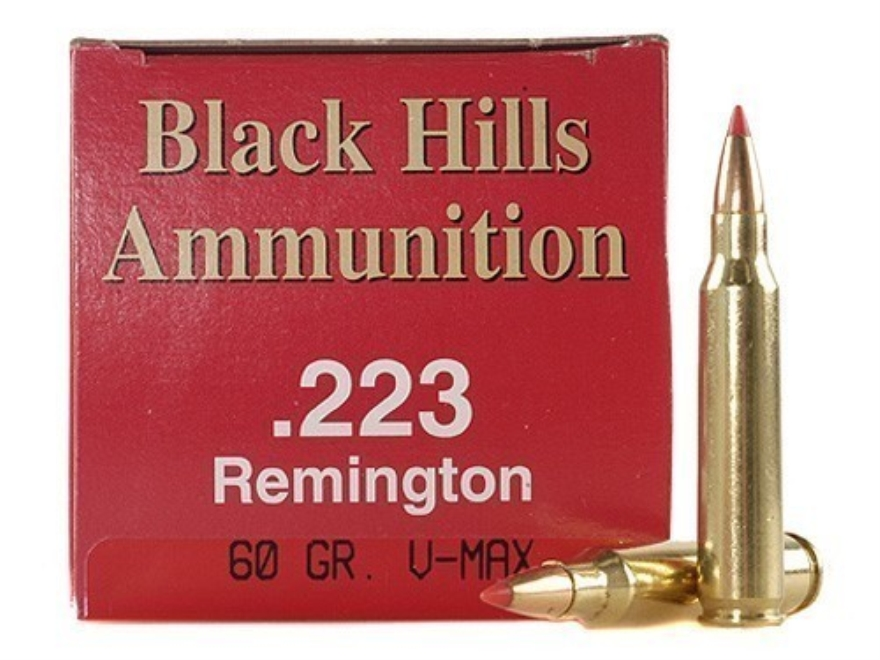 Black Hills Ammunition 223 Remington 60 Grain Hornady V-Max Box of 50