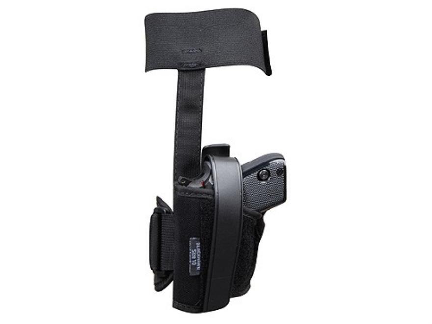 BlackHawk Ankle Holster Small Frame Semi-Automatic 22 Caliber, 25 ACP Nylon Black
