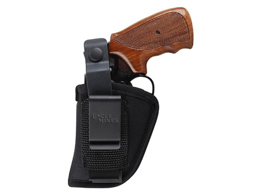 "Uncle Mike's Sidekick Ambidextrous Hip Holster Small 5-Round Revolver with Hammer 2"" Barrel Nylon Black"