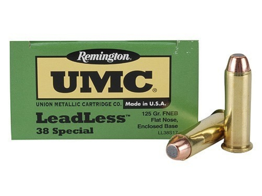 Remington UMC Ammunition 38 Special 125 Grain Jacketed Flat Nose Enclosed Base Box of 50
