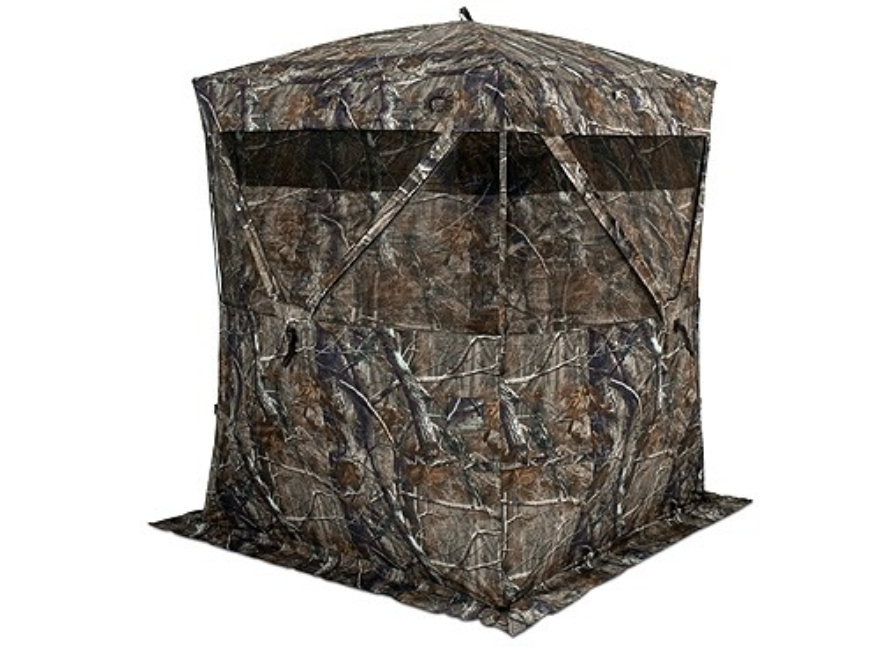 """... Dominator Ground Blind 60"""" x 60"""" x 82"""" Polyester Realtree APG Camo"""