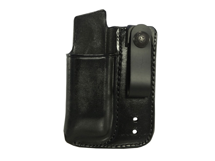 Galco Inside the Waistband Single Magazine Pouch 40 S&W, 9mm Double Stack Metal Magazine Leather Black