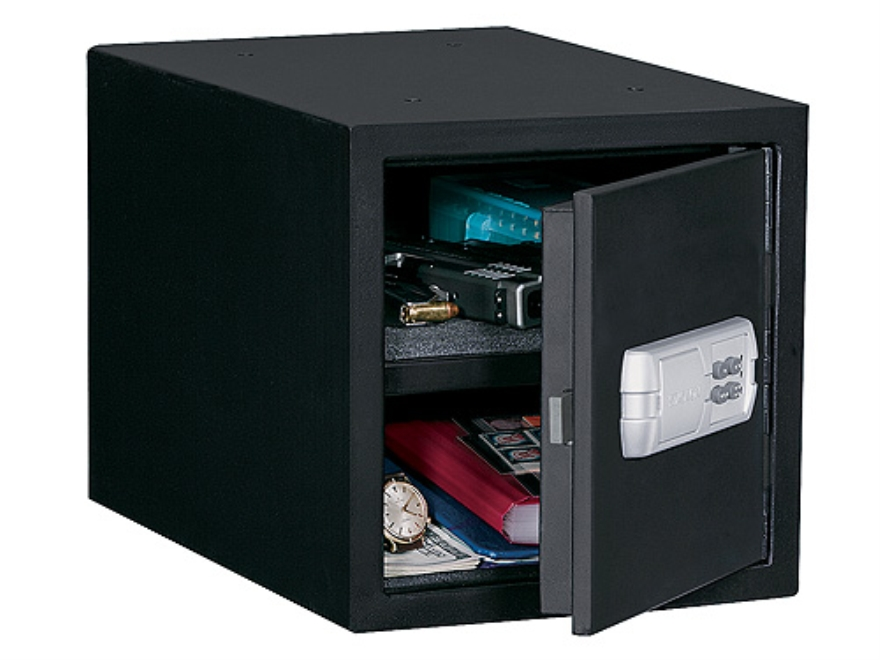Stack-On Quick Access Personal Safe with Motorized Lock Black