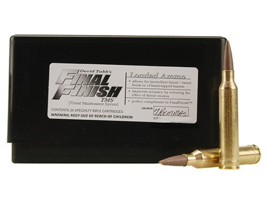 Tubb Final Finish Throat Maintenance System TMS Ammunition 7mm Remington Magnum Box of 20