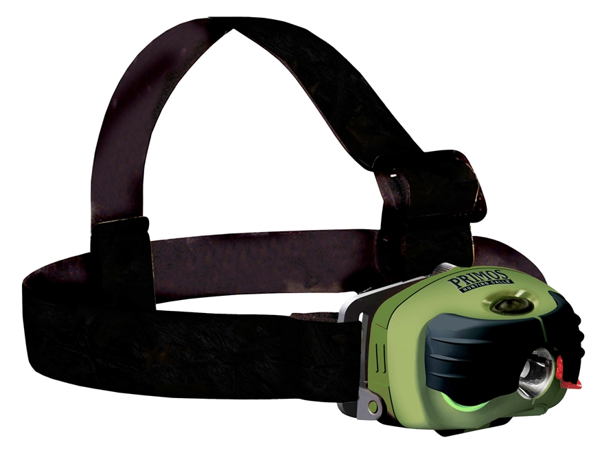 Primos Top Gun Headlamp LED with 2 AA Batteries Polymer Green