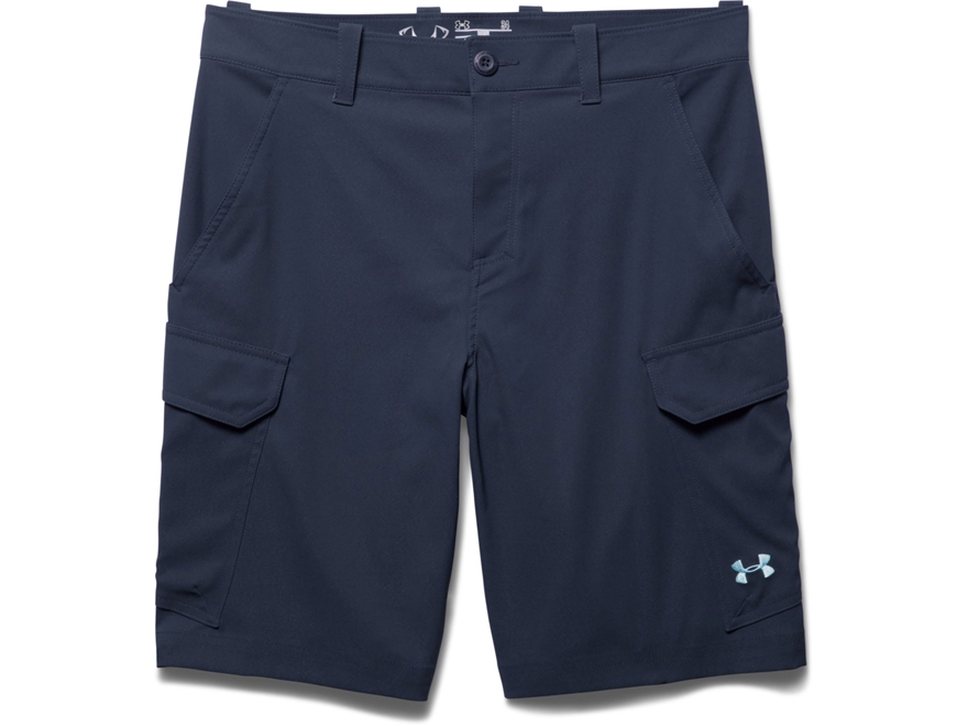Under armour men 39 s fish hunter shorts polyester for Under armour fishing shorts