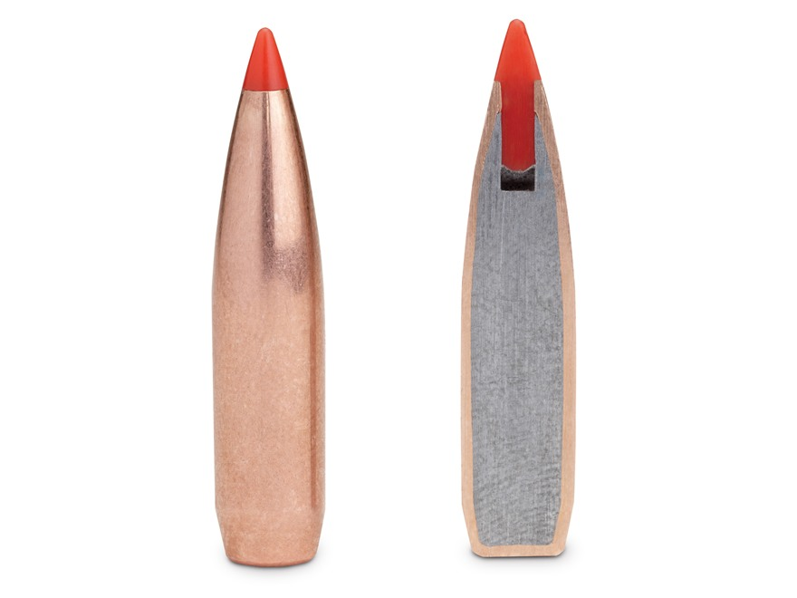 Hornady A-Max Bullets 264 Caliber, 6.5mm (264 Diameter) 123 Grain Boat Tail Box of 100