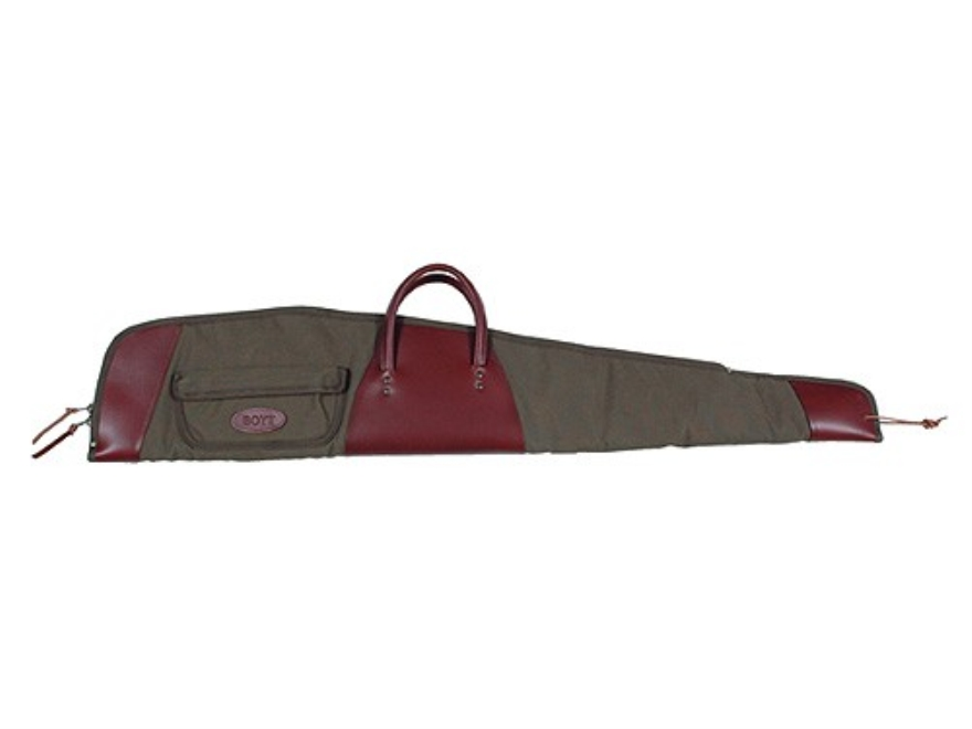 "Boyt Boundary Lakes Scoped Rifle Gun Case 48""with Pocket Canvas and Leather Green"