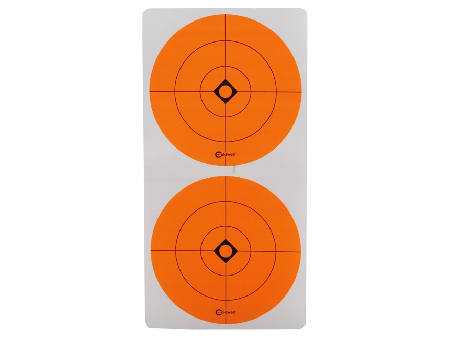 "Caldwell Target Spots 3"" Pack of 12 Sheets 2 Spots per Sheet Orange"
