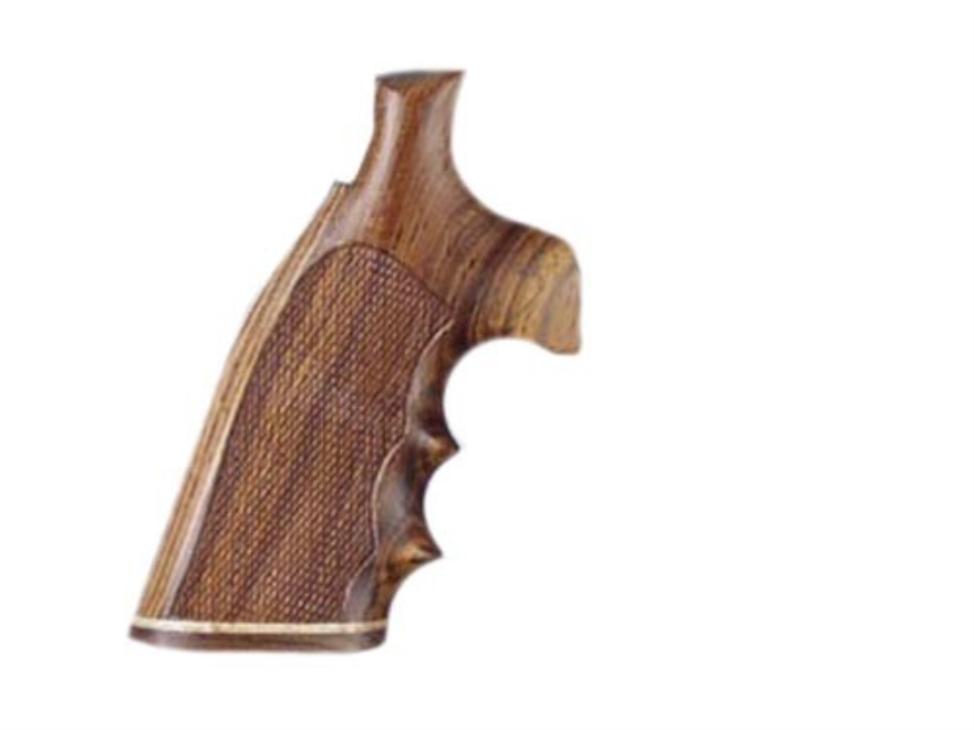 Hogue Fancy Hardwood Grips with Accent Stripe, Finger Grooves and Contrasting Butt Cap Ruger Speed Six Checkered