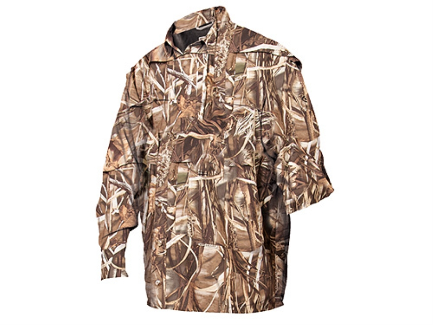 Drake Men's Migration Shirt Long Sleeve Polyester Realtree Max-4 Camo 2XL