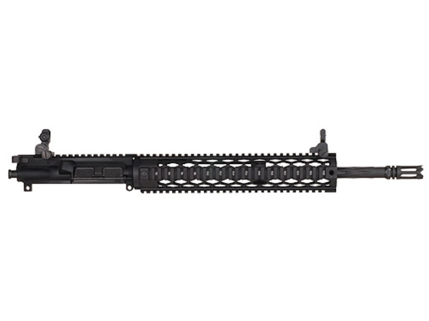 "Yankee Hill AR-15 Specter XL Black Diamond Upper Assembly 5.56x45mm NATO 1 in 9"" Twist 16"" Fluted Barrel with 12.5"" Diamond Quad Rail Free Float Handguard, Flip-Up Sights, Flash Hider"