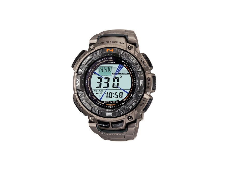 Casio Pathfinder Triple Sensor Solar Watch Titanium Band