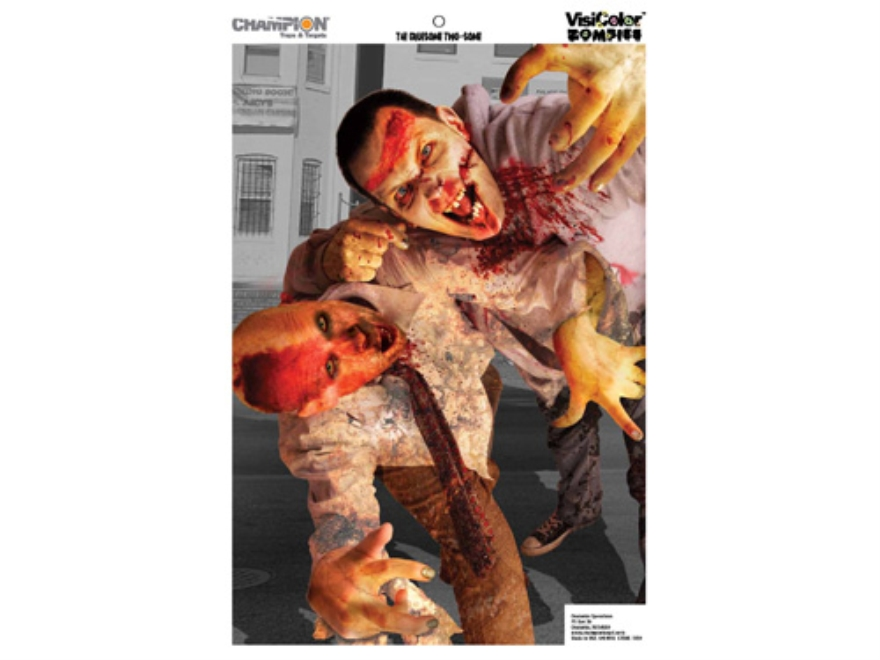 "Champion Zombie Gruesome Two-Some Target 24"" x 45"" Paper Package of 10"