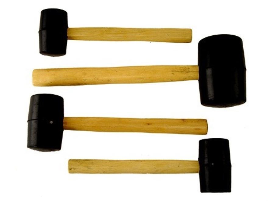 Wisdom Rubber Mallet Set 8, 12, 16, 32 oz