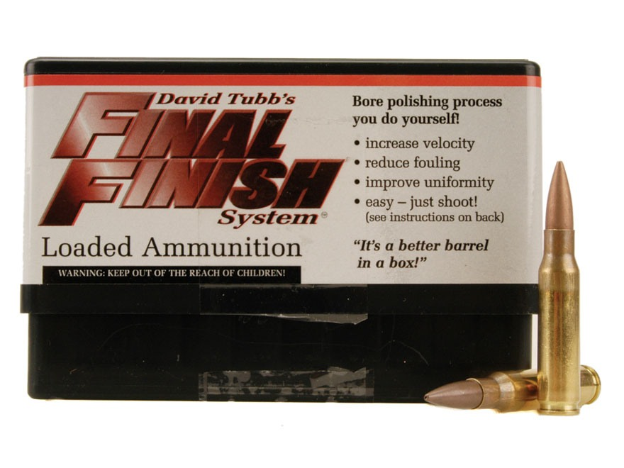 Tubb Final Finish Bore Lapping Ammunition 308 Winchester Box of 20
