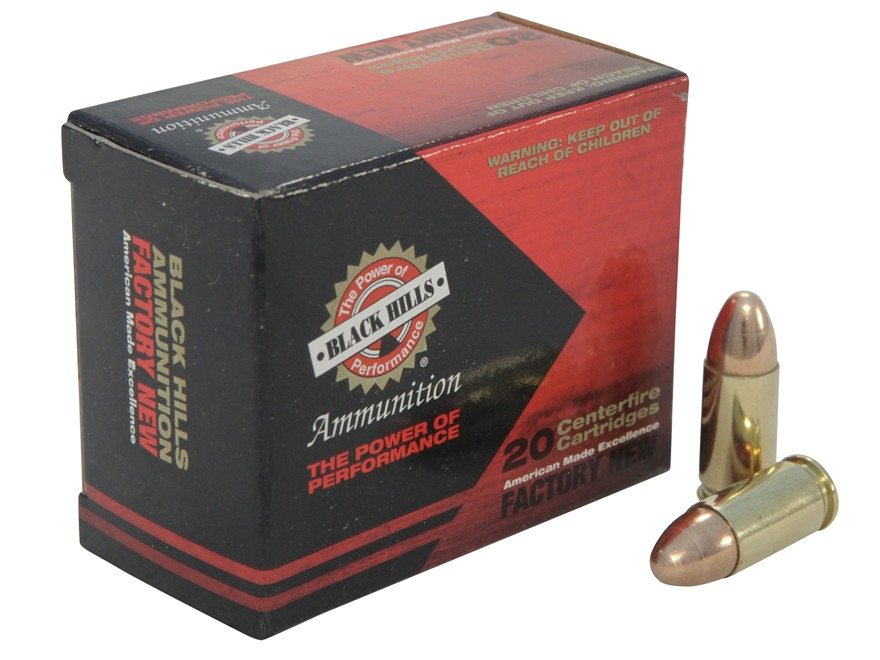 Black Hills Ammunition 9mm Luger 115 Grain Full Metal Jacket Box of 20