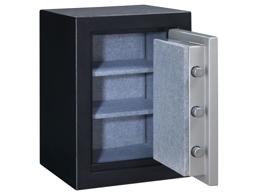Stack-On Elite Executive Fire-Resistant Personal Safe with Combination Lock Matte Black and Silver