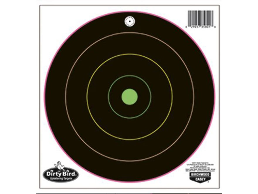 "Birchwood Casey Dirty Bird Multi-Color 8"" Bullseye Targets Package of 20"
