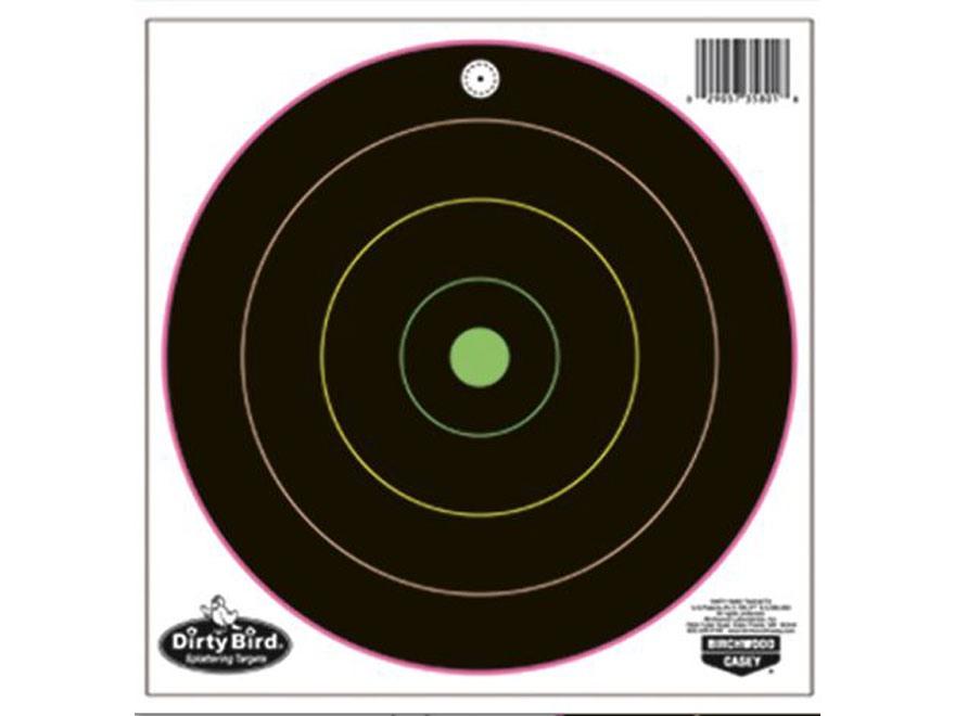 "Birchwood Casey Dirty Bird Multi-Color 8"" Bullseye Targets Pack of 20"