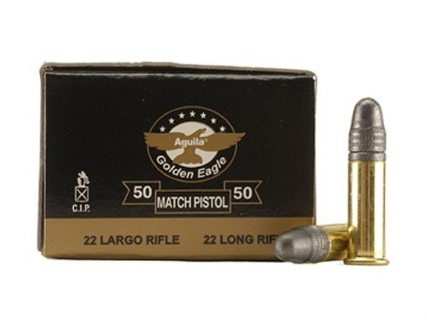 Aguila Match Pistol Ammunition 22 Long Rifle 40 Grain Lead Round Nose