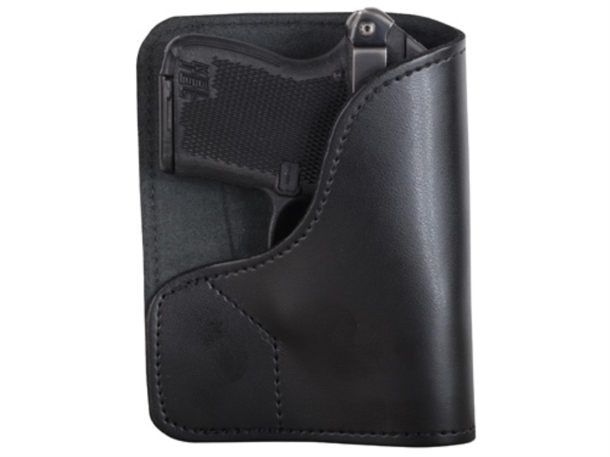 DeSantis Trickster Rear Pocket Holster Ambidextrous Ruger LCP, Kel-Tec P-32, P3AT with Laser Leather Black