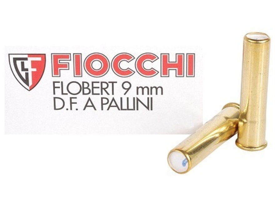 Fiocchi Specialty Ammunition 9mm Rimfire (Flobert) #9 Shot Shotshell Box of 50