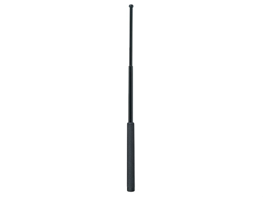 "ASP Friction Loc Baton 26"" Expandable 4140 Steel Shaft Electroless Finish Foam Grip Nickel and Black"