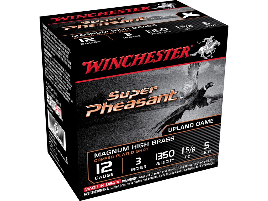 "Winchester Super-X Pheasant Ammunition 12 Gauge 3"" 1-5/8 oz #5 Shot"