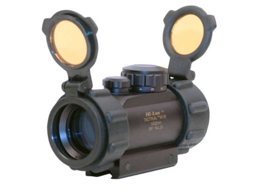 Leatherwood Hi-Lux Tactical Red Dot Sight 30mm Tube 1x 5 MOA Dot with Integral Weaver-Style Mount Matte
