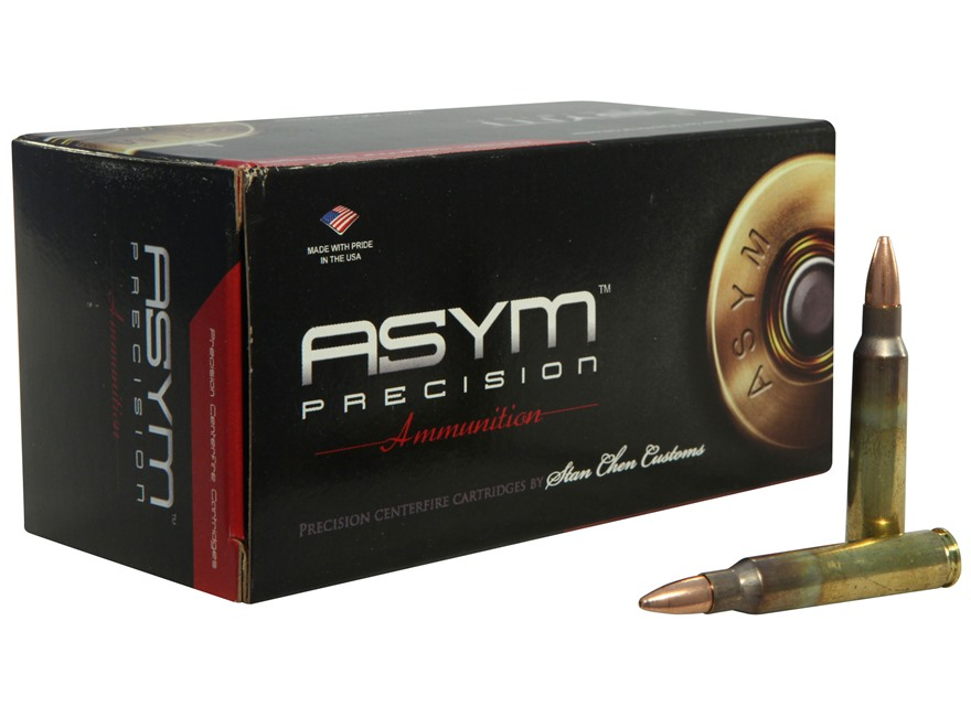 ASYM Precision Solid Defense X Ammunition 223 Remington 55 Grain Barnes Triple-Shock X Bullet Hollow Point Boat Tail Box of 50