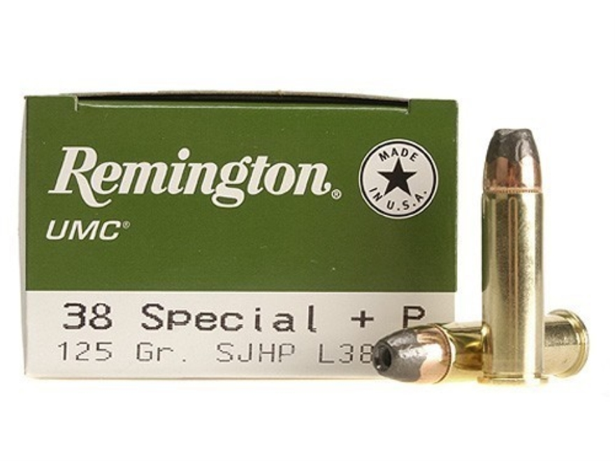 Remington UMC Ammunition 38 Special +P 125 Grain Jacketed Hollow Point